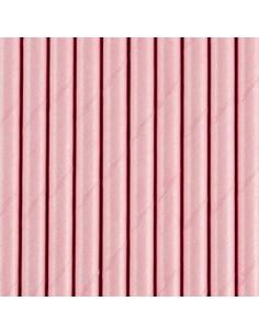 paille en papier rose