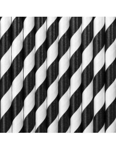 paille noir et blanc
