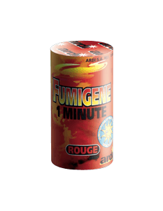 fumigene rouge 1 minute en pot