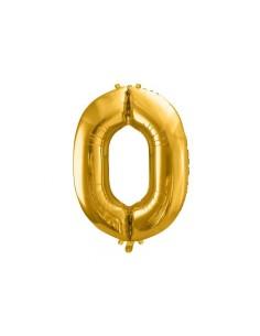 ballon geant chiffre or 0