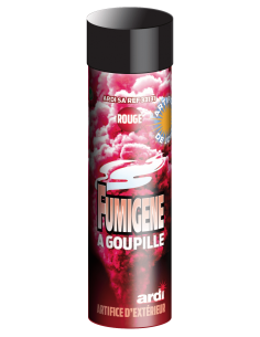fumigene a goupille rouge