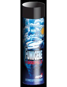 Fumigene a goupille bleu