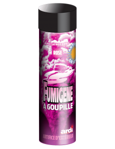 Fumigene rose a goupille