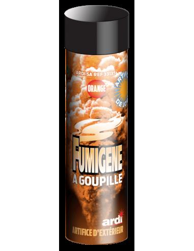 fumigene a goupille orange