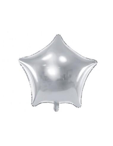 Ballon aluminium étoile argent