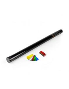 Canon manuel 80 cm confettis rectangulaires métalliques multicolore