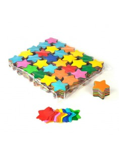 confettis etoile multicolore