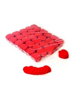 confettis papier coeur rouge