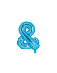 ballon aluminium helium bleu