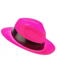 chapeau fluo rose
