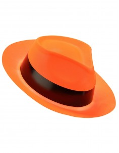chapeau fluo orange