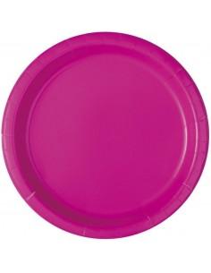 assiette fluo rose