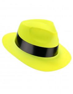 chapeau jaune fluo