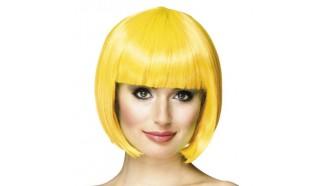 perruque fluo jaune