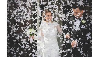confettis mariage papillon