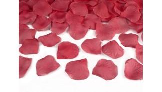 confettis petale rose rouge