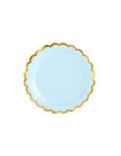 assiette bleu