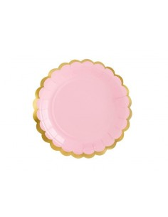 assiette rose doree