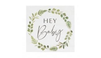 serviette papier baby shower