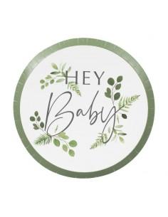 assiette botanique pour baby shower
