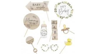accessoire photobooth baby shower botanique