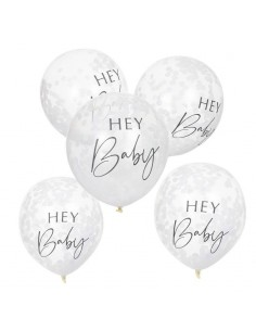 ballons confettis baby shower