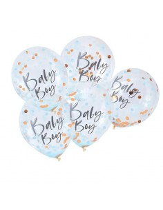 ballon avec confettis baby shower
