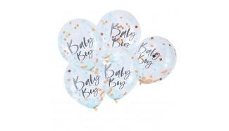 ballon avec confettis baby shower