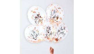 ballon confettis baby shower