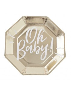 assiettes en carton baby shower