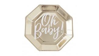 assiettes en carton baby shower