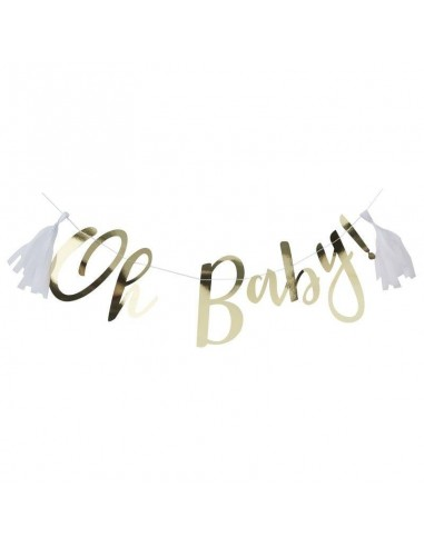 banderole doré baby shower