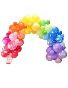 arche en ballon multicolore