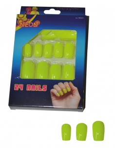 faux ongles fluo jaune