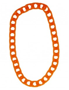 collier fluo orange