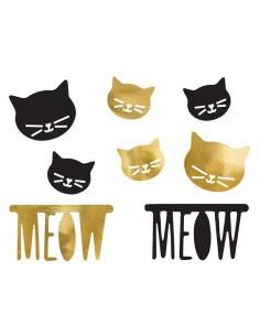 decoration en papier chat