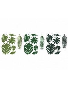 deco en papier feuilles tropicale