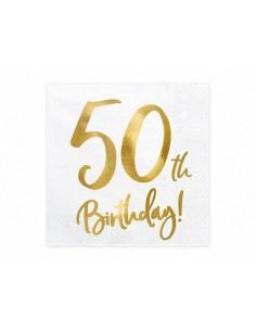 serviette en papier 50 ans