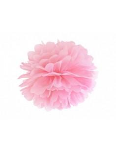 pompon rose en papier