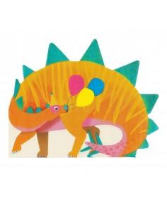 serviette de table dinosaure