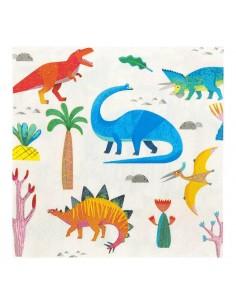serviette en papier dinosaure