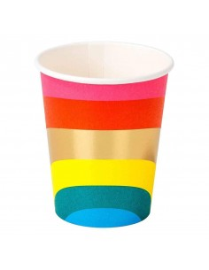 gobelet en carton multicolore
