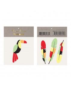 tatouage éphémère toucan