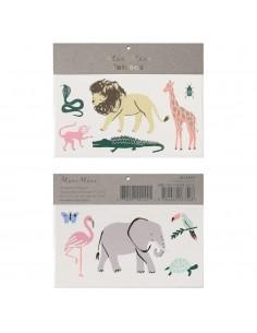 tatouage éphémère safari