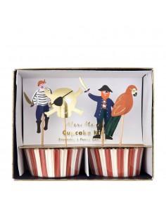 décoration pour cupcake pirate
