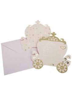 carton invitation princesse