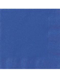serviette de table bleu
