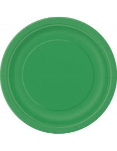 assiette jetable vert