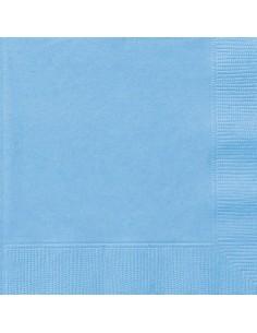 serviette en papier bleu pastel