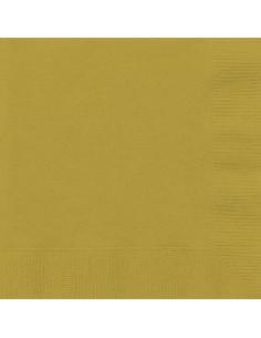 serviette en papier or